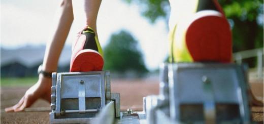Runner-in-starting-blocks
